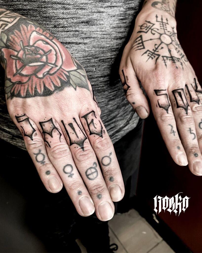 Knuckle Tattoos 158