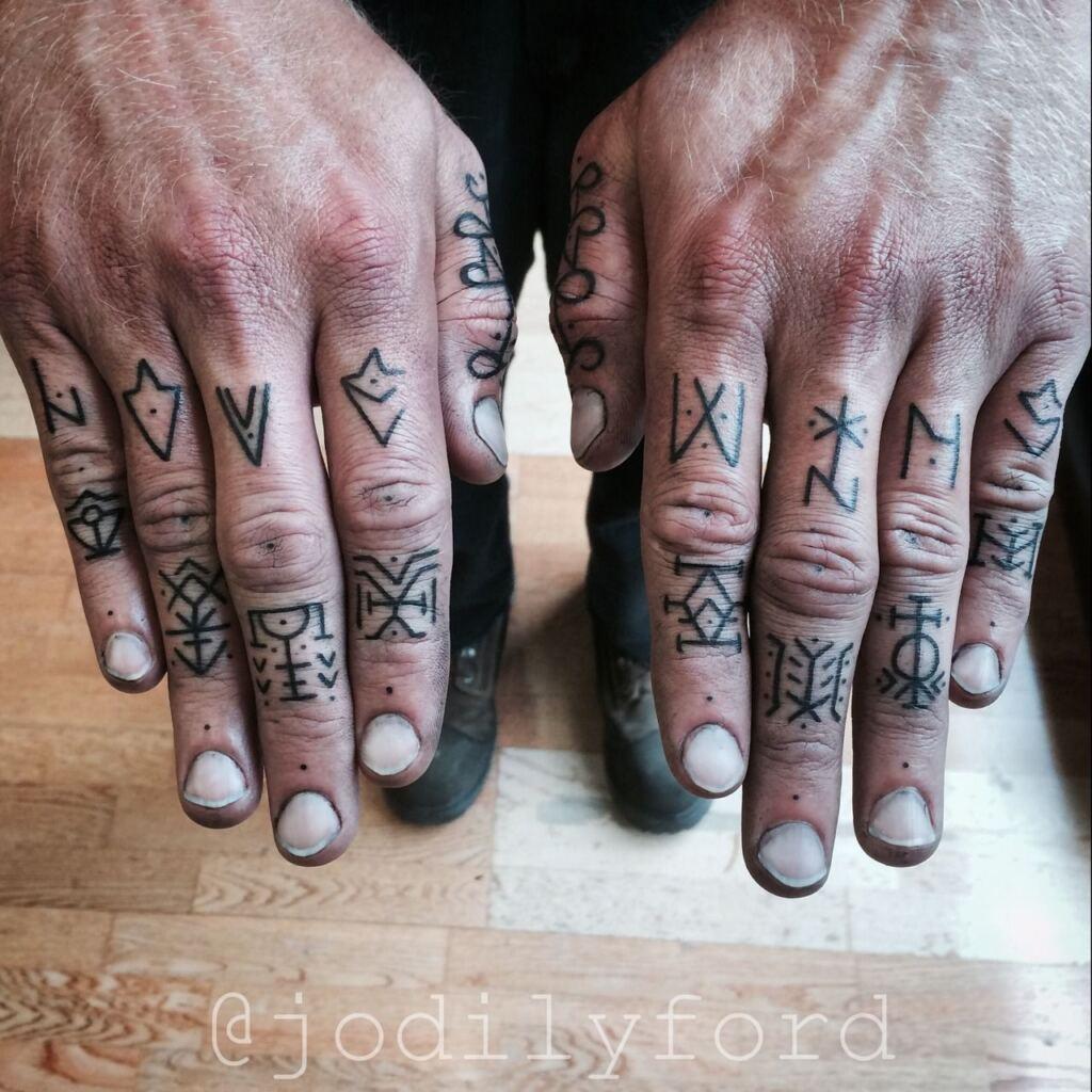 Knuckle Tattoos 159