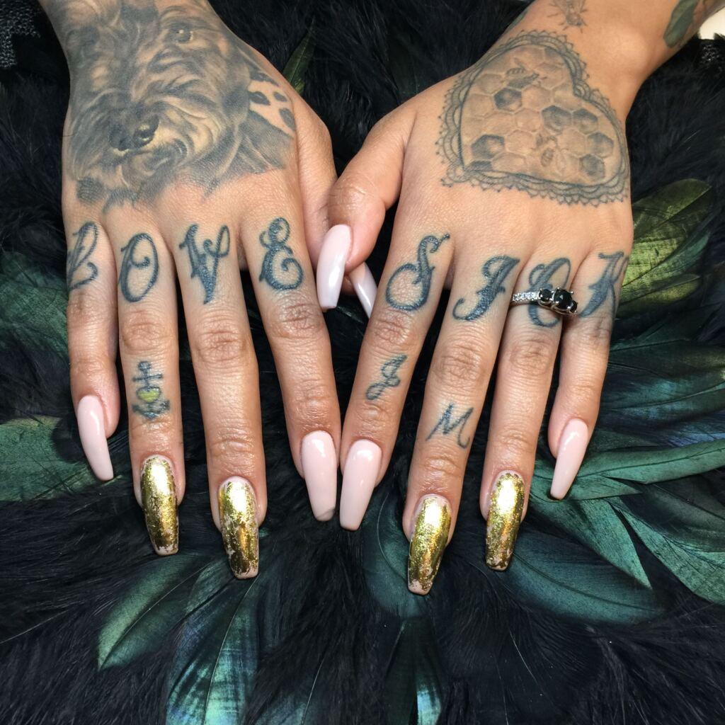 Knuckle Tattoos 162