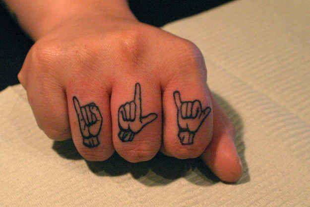Knuckle Tattoos 176