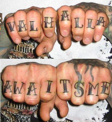 Knuckle Tattoos 26