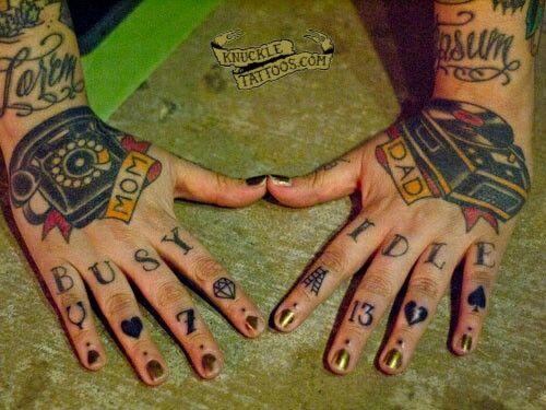Knuckle Tattoos 48