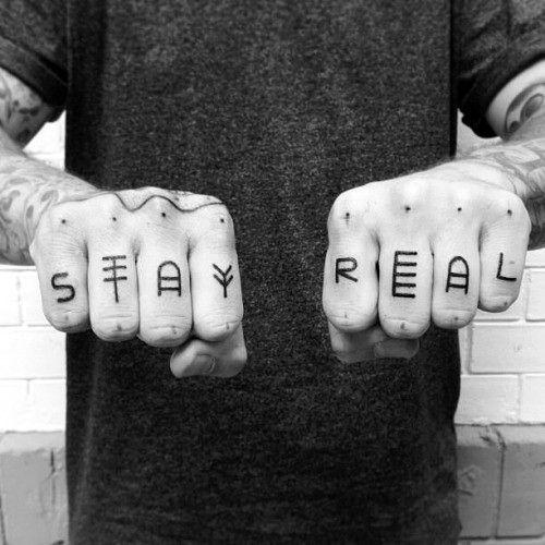 Knuckle Tattoos 49