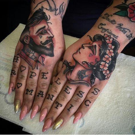 Knuckle Tattoos 53