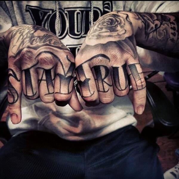 Knuckle Tattoos 69
