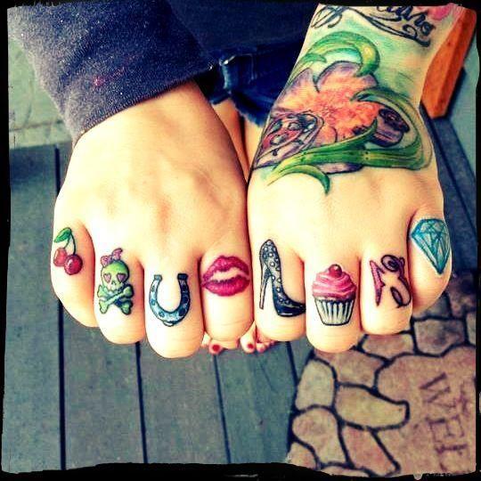 Knuckle Tattoos 73