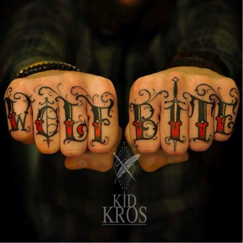 Knuckle Tattoos 79