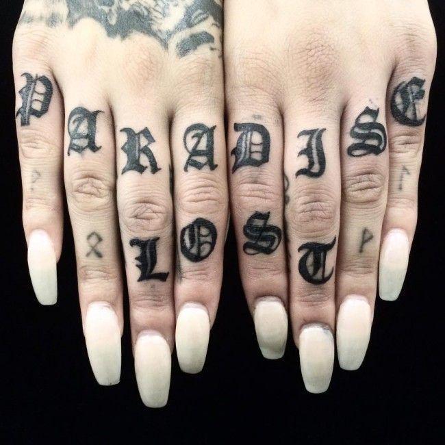 Knuckle Tattoos 80