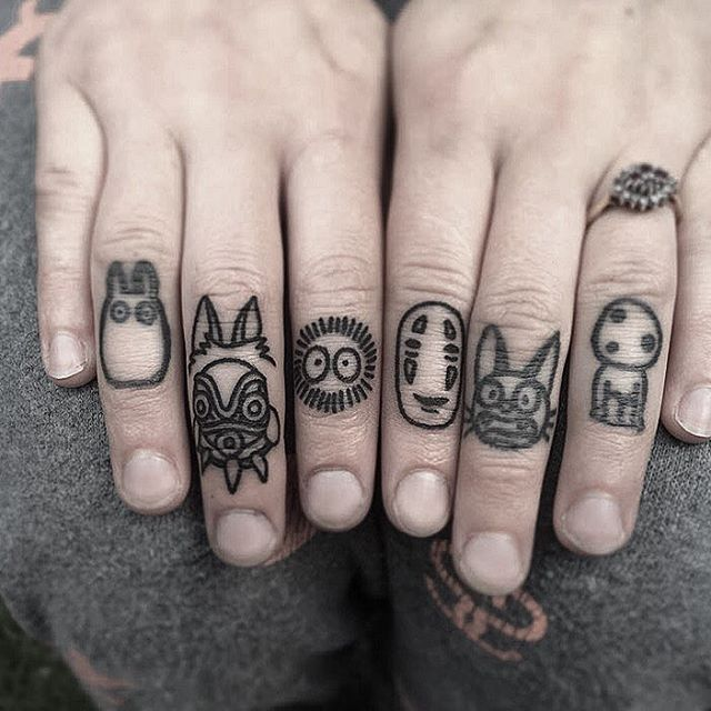 Knuckle Tattoos 88