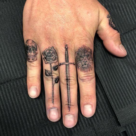 Knuckle Tattoos 94