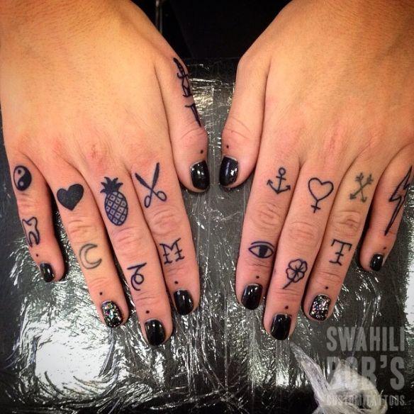 Knuckle Tattoos 98
