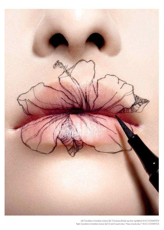 Lip Tattoo Ideas 23