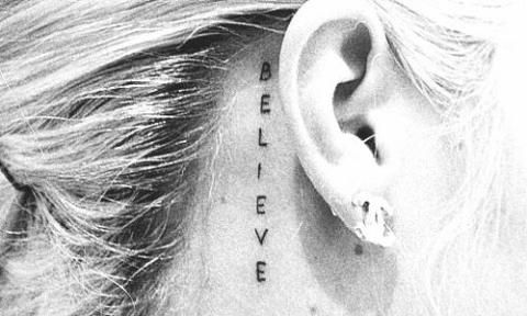 Behind The Ear Tattoos Designs 10
