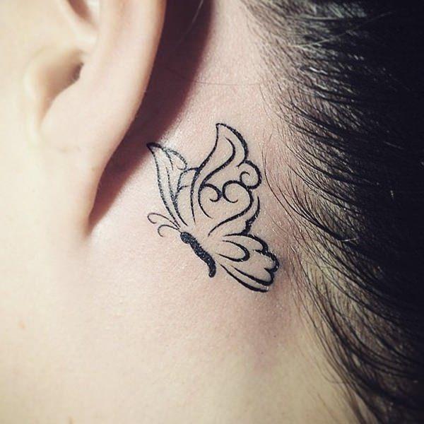 Behind The Ear Tattoos Designs 13