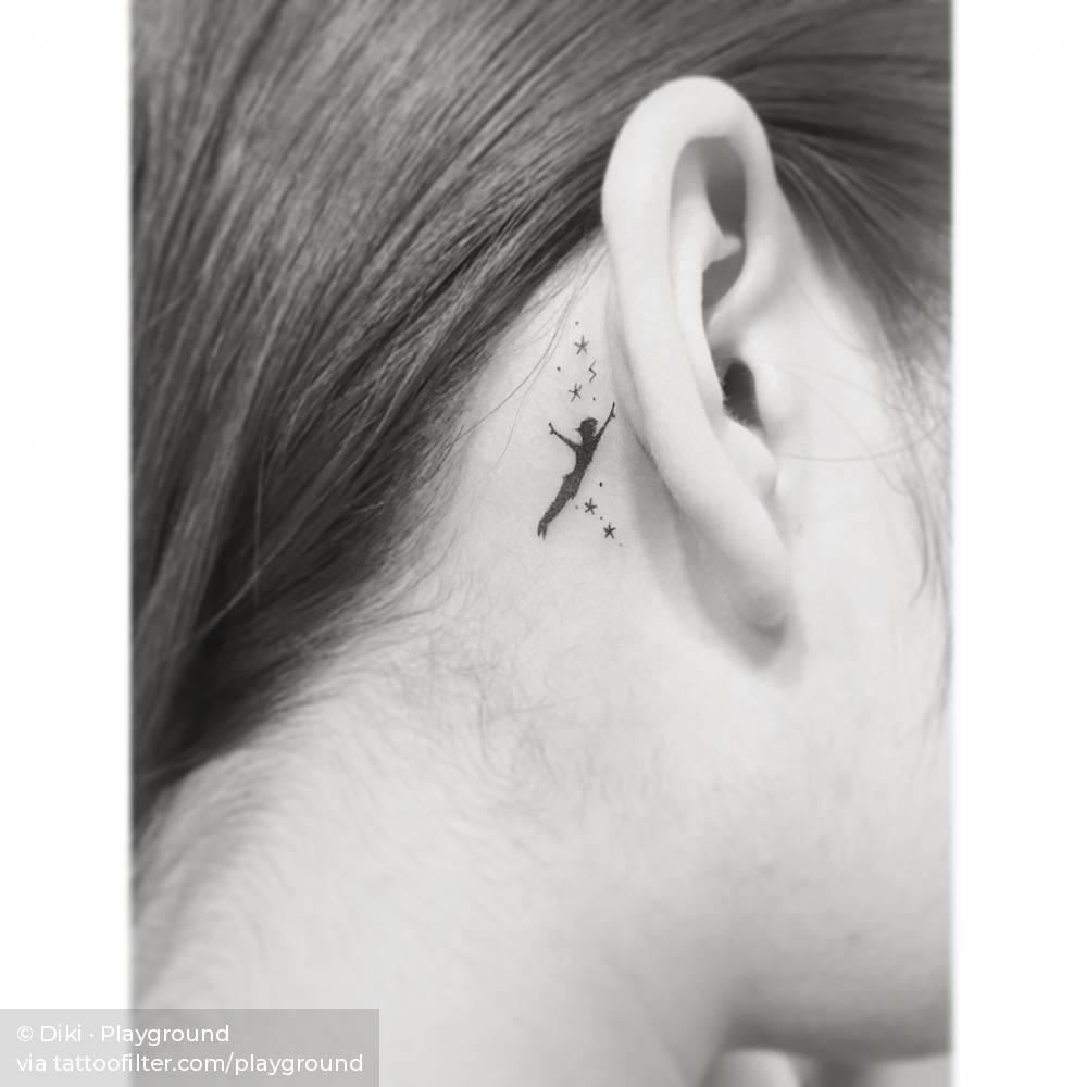 Behind The Ear Tattoos Designs 14