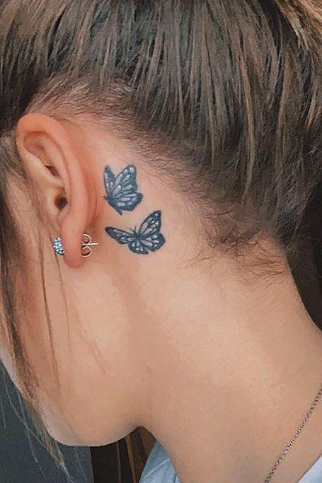 Behind The Ear Tattoos Designs 20