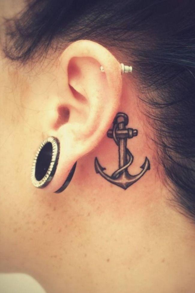 Behind The Ear Tattoos Designs 22