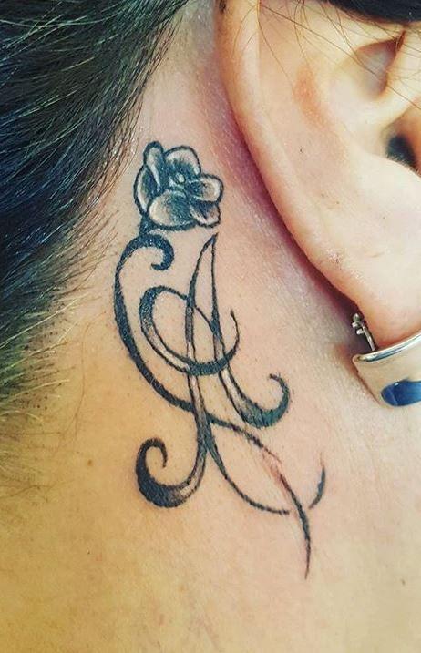 Behind The Ear Tattoos Designs 27