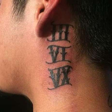 Behind The Ear Tattoos Designs 29