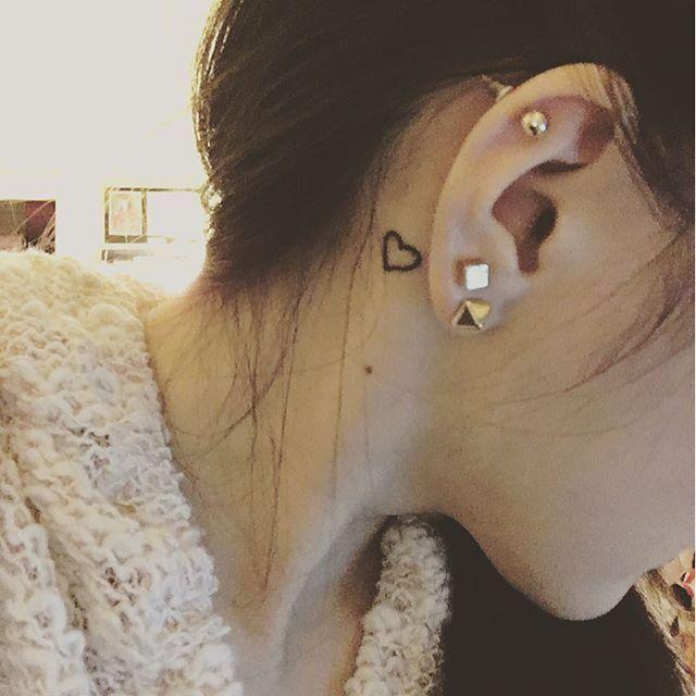Behind The Ear Tattoos Designs 33