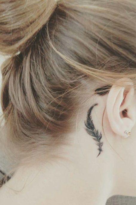 Behind The Ear Tattoos Designs 34