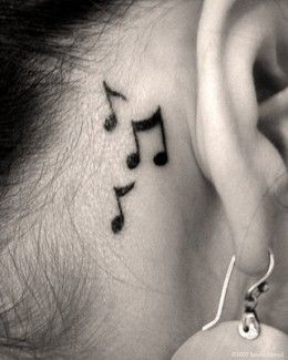 Behind The Ear Tattoos Designs 39