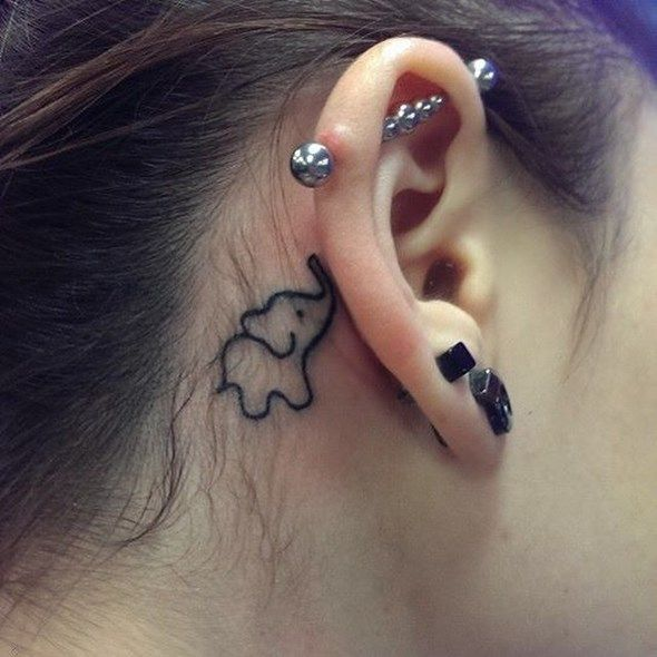 Behind The Ear Tattoos Designs 43