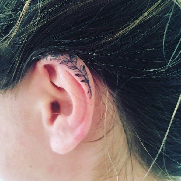 Behind The Ear Tattoos Designs 45