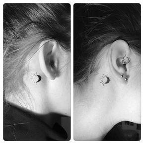 Behind The Ear Tattoos Designs 46
