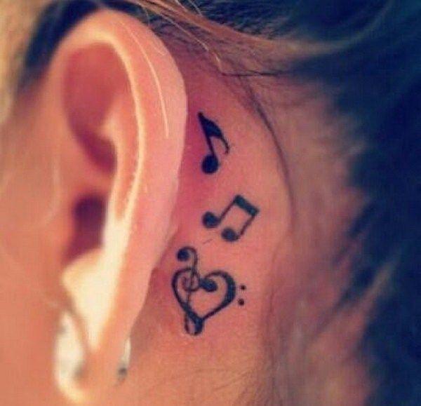 Behind The Ear Tattoos Designs 57