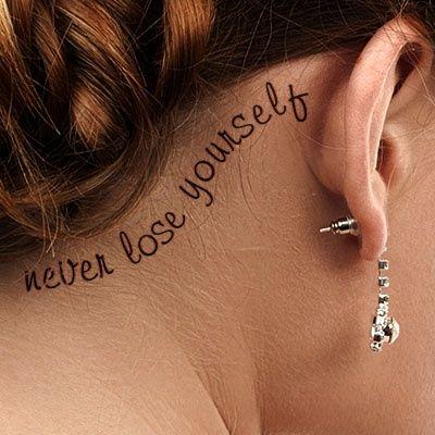 Behind The Ear Tattoos Designs 64