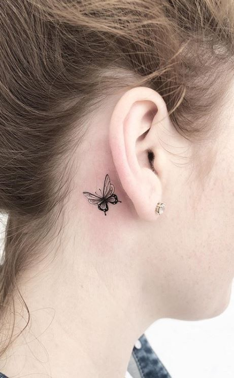 Behind The Ear Tattoos Designs 69