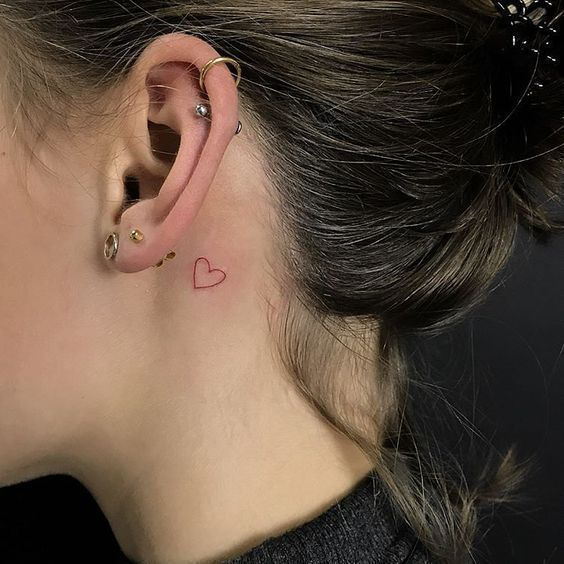 Behind The Ear Tattoos Designs 7