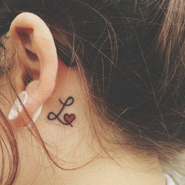Behind The Ear Tattoo 1