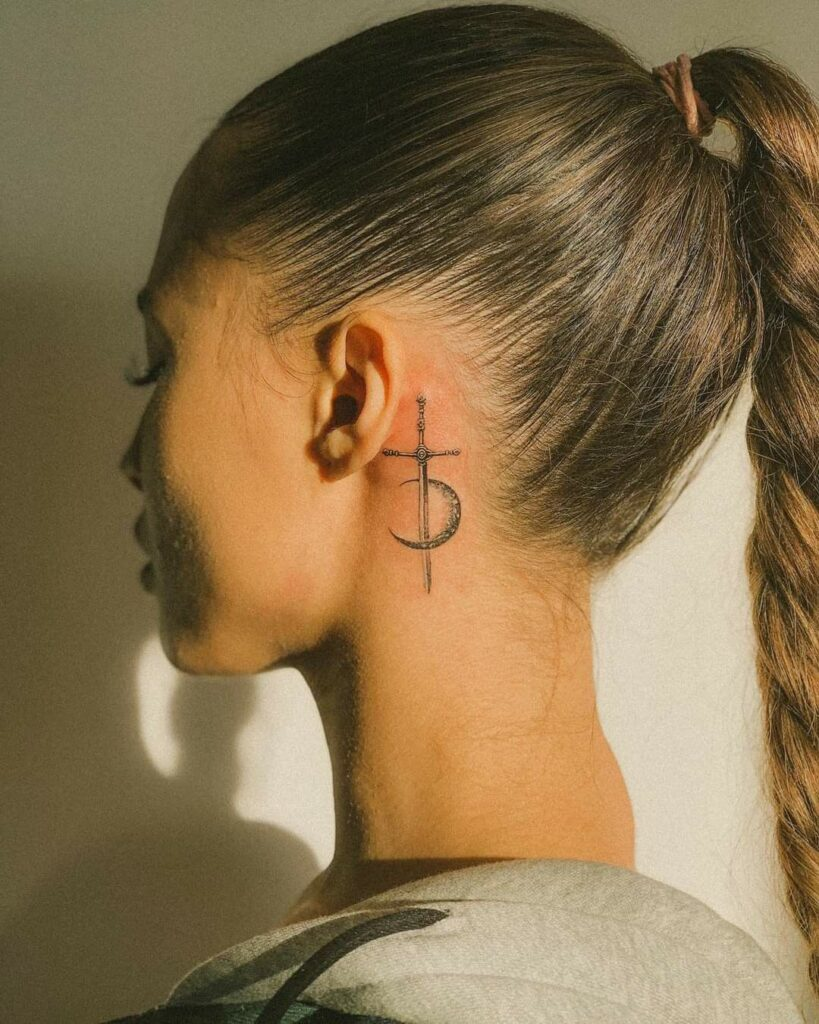 Behind The Ear Tattoo 105