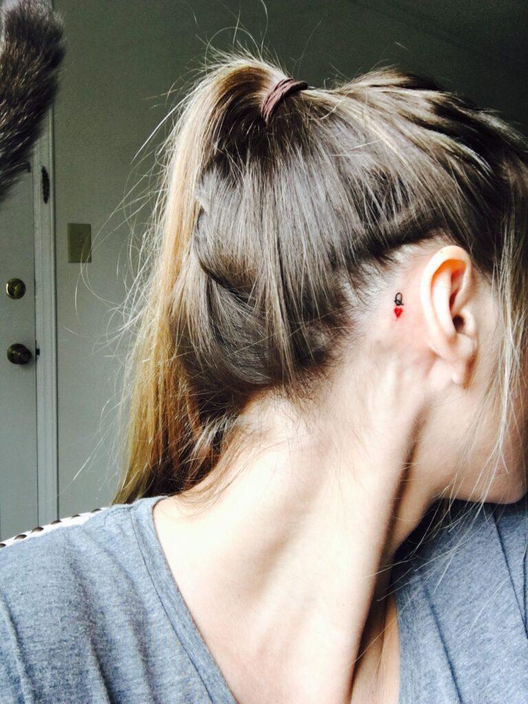 Behind The Ear Tattoo 115