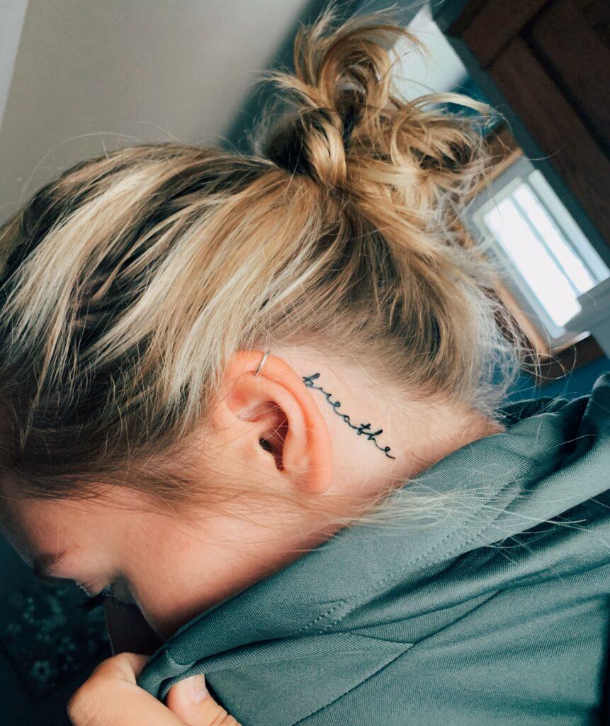 Behind The Ear Tattoo 118