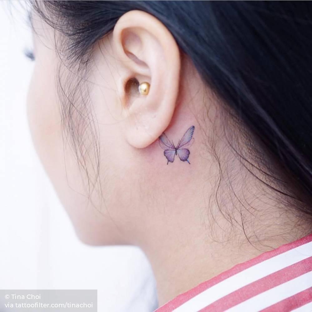 Behind The Ear Tattoo 14