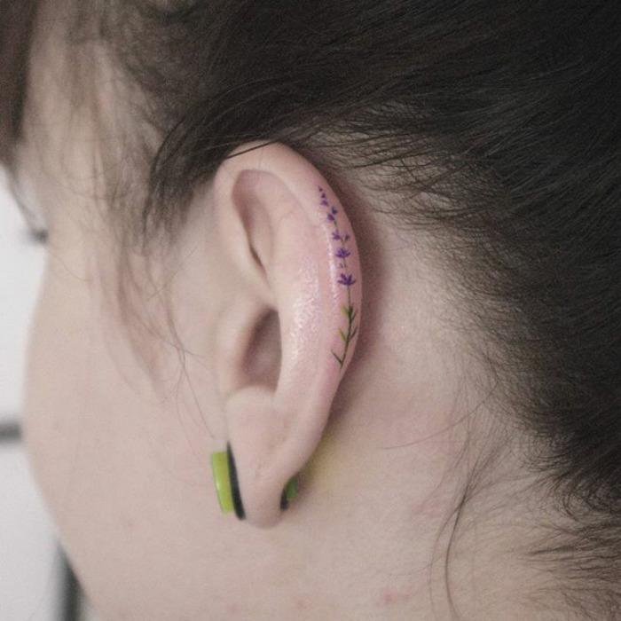 Behind The Ear Tattoo 16