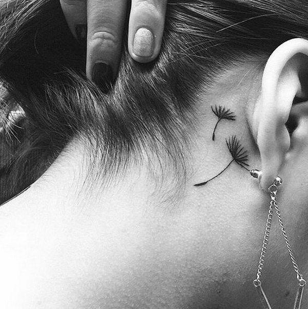 Behind The Ear Tattoo 18