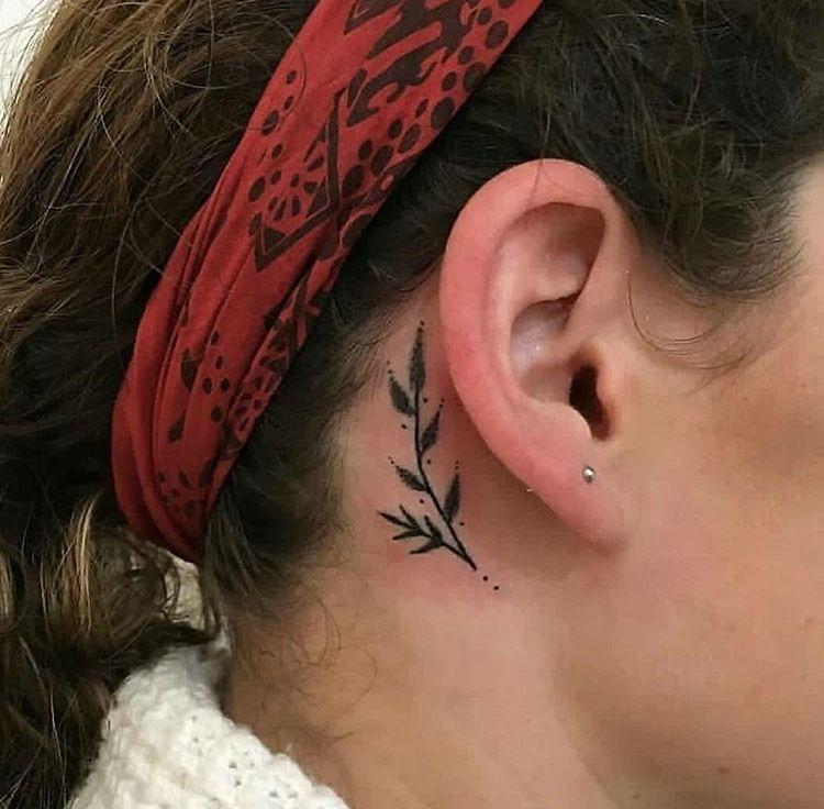 Behind The Ear Tattoo 21
