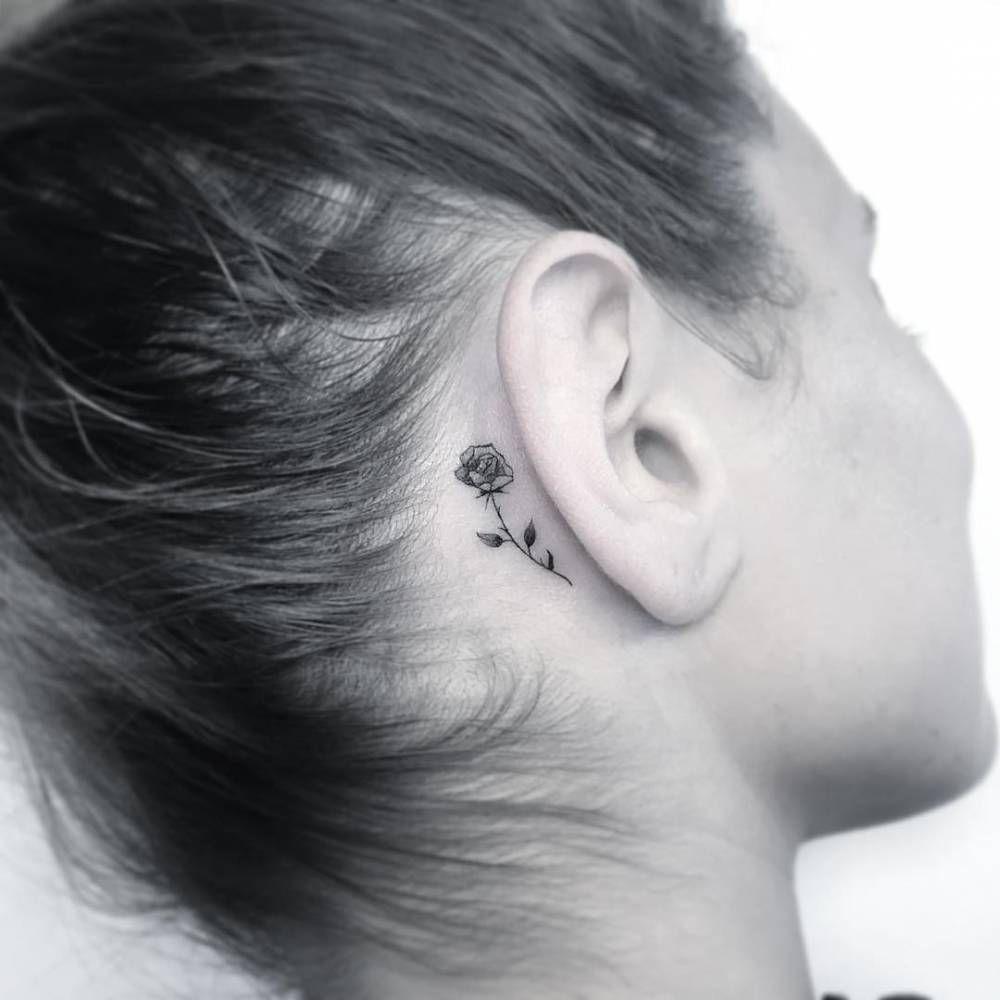 Behind The Ear Tattoo 22