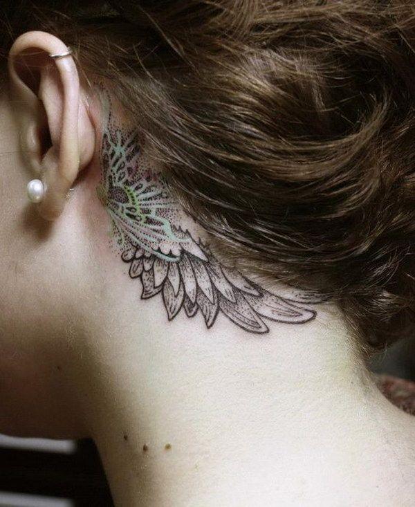 Behind The Ear Tattoo 25
