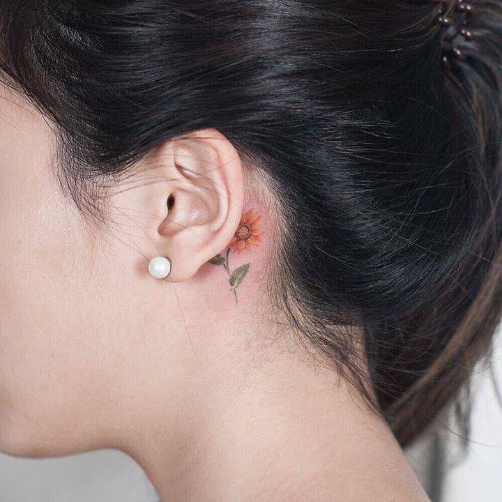 Behind The Ear Tattoo 30