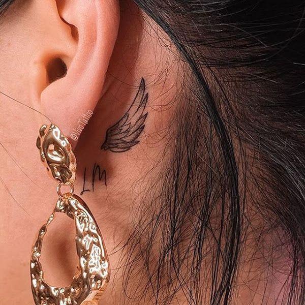 Behind The Ear Tattoo 38