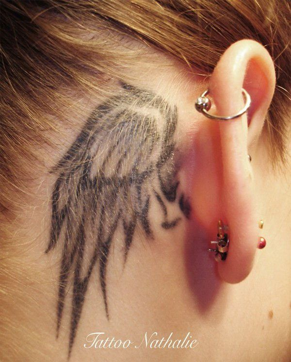 Behind The Ear Tattoo 42
