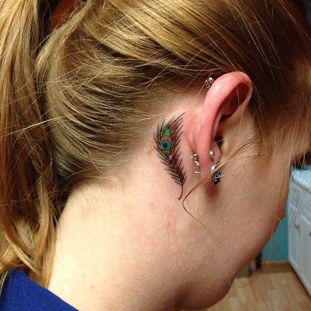 Behind The Ear Tattoo 47