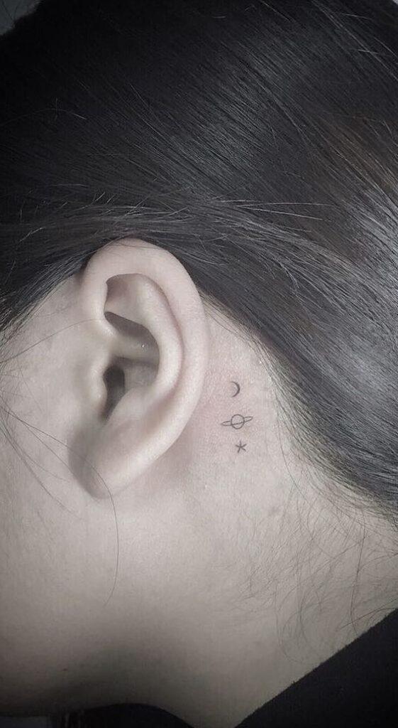Behind The Ear Tattoo 49