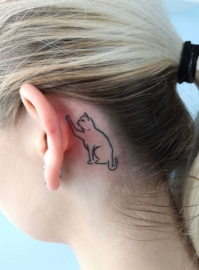 Behind The Ear Tattoo 53