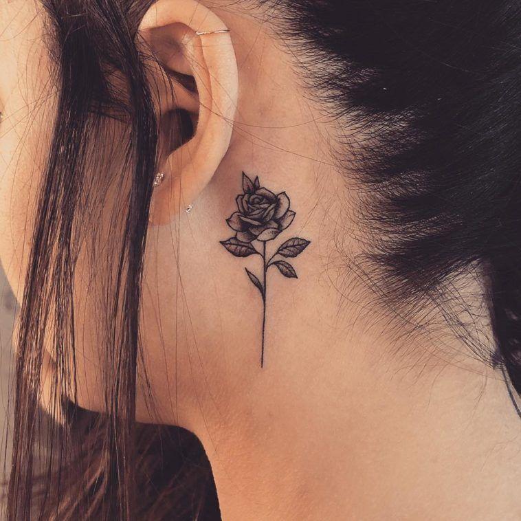 Behind The Ear Tattoo 54
